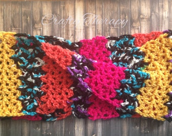 Twisted Crochet Cowl, Crochet scarf, crochet infinity scarf, teen crochet scarf, adult crochet scarf, Gifts for her, Crafty Therapy