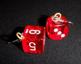 Lucky dice earings