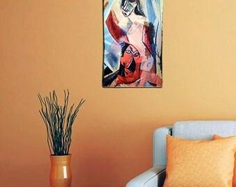 Pablo Picasso painting print on wood art print vintage home decor woodprint,print on wood