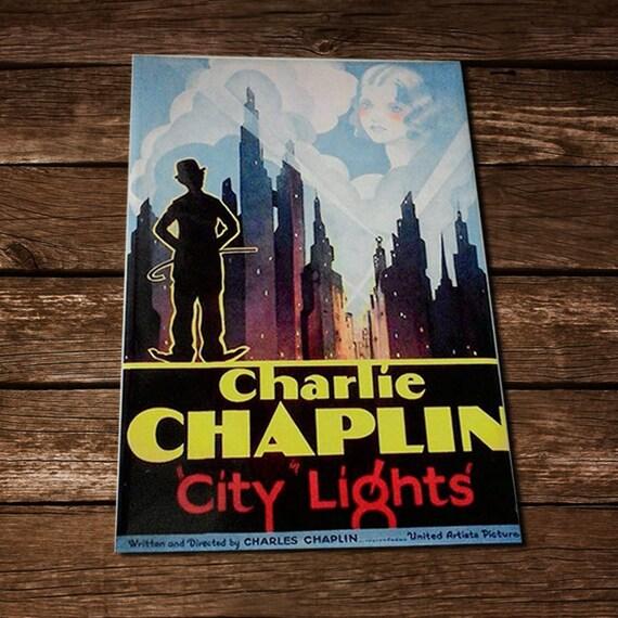 Items similar to charlie chaplin poster retro tin signs ...