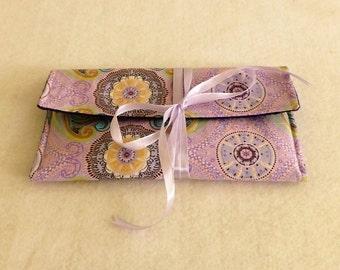 Mandala Tarot Bag, Tarot Card Bag, Mandela Tarot Card Wrap, Tarot Card Wallet, Tarot Card Pouch, Spiritual Goods, Mandala Angel Card Bag