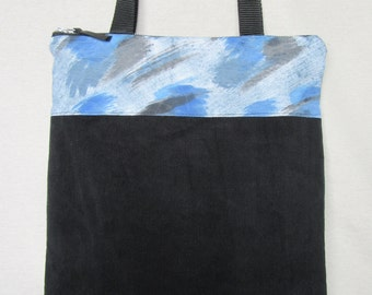 Bag style in corduroy and handpainted fabric tote by my. Tote bag.