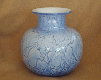 Tarnowiec Glass Vase; Vintage Glass Vase