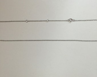 Cable chain,925 Sterling silver cable chain