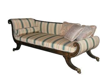 Regency Period Painted Recamier Sofa
