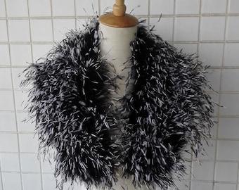Pencilled ostrich feather shoulder wrap #CC12011