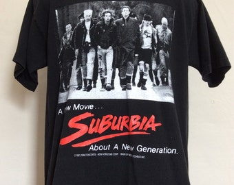 Vtg 1996 Mosquitohead Suburbia T-Shirt Black L 90s Punk Rock Movie