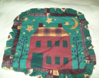 handmade Primitive House pillow