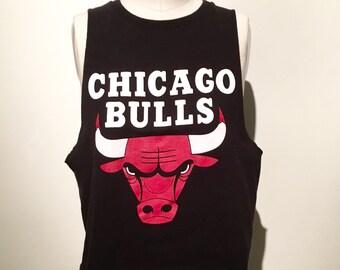 90s vintage Chicago bulls vintage reworked tank top crop medium