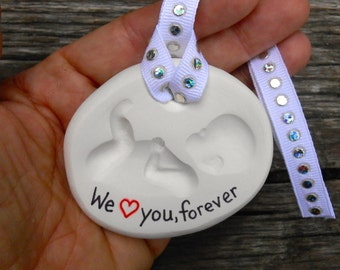 Personalized Infant Baby Memorial Necklace Born Into Heaven