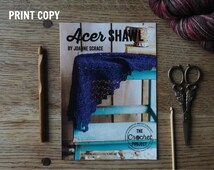 Acer Shawl ~ PRINT COPY ~ Simple Crochet Shawl Pattern