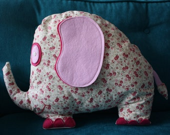 SALES / clearance Pink Elephant cuddly toy - pillow child Barry the elephant nursery decor pink