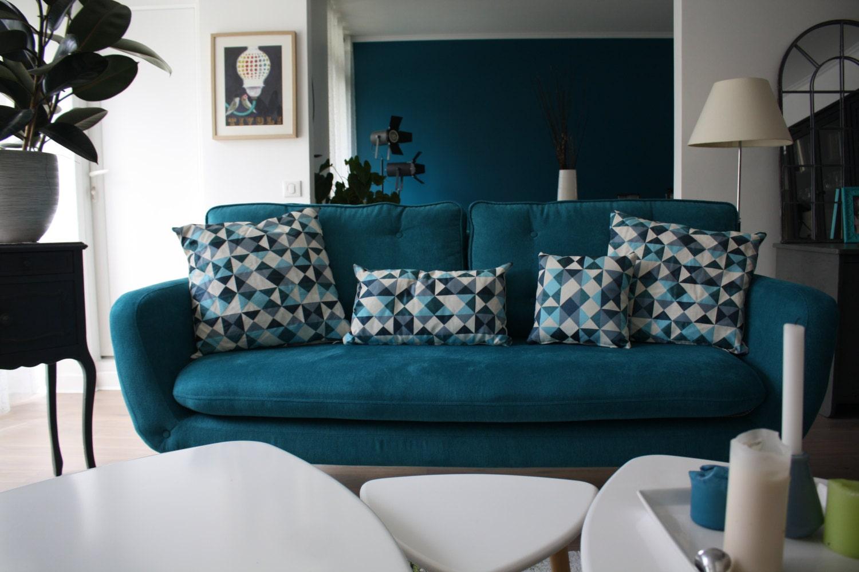 Scandinavian cushion cover 19 housse de coussin 50cm x - Housse coussin bleu canard ...