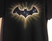 Batman custom airbrushed t-shirt