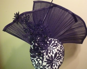 Black & White Lace Fascinator
