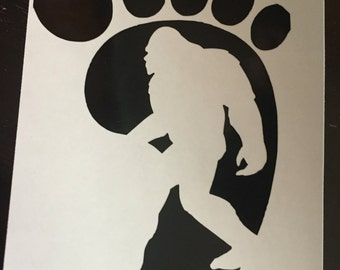 Sasquatch decal. Bigfoot sticker. Sasquatch window decal. Bigfoot vinyl decal. Samsquanch decal. Samsquanch sticker