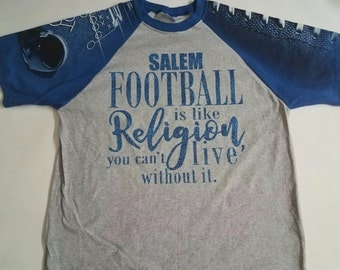 Football is Religion Shirt Sport mom shirt Football shirts Sport T-shirts Football season shirt Football cheerleader shirt Mom cheer shirt