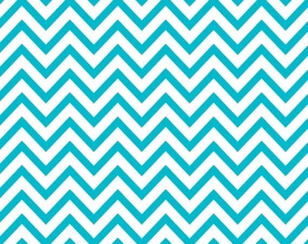 "Turquoise Chevron Stripes Tissue Paper 20"" X 30"" - 24 Sheet Count"