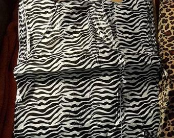 Zebra Striped Shopping Bags