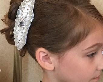 Flower girl hair clips, flower girl headbands, jeweled hair accessories
