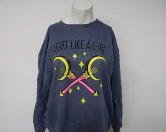 Recycled Fight Like A Girl Sweatshirt