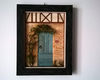 Dollhouse,framed  Miniature Door Art