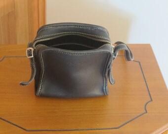 Coach Bellini Zip Black Leather Cross Body Bag- VGC