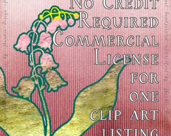 NO Credit required Limited Commercial License for ONE Clip Art Listing