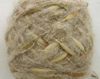 Wool Blend Mohair Birdnest FANCY YARN, Beige