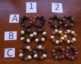 Wooden beads Earring!