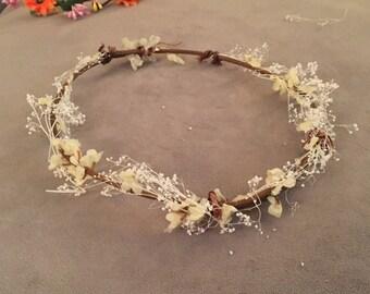 Floral Head Wreath Halo Bridesmaids Bridal Bohemian Wedding Coachelle Head Piece