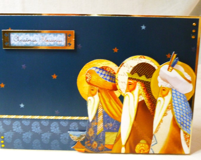 Three Kings, Traditional Card, Christmas Greeting Card, Any Age, Mum, Dad, Sister, Brother, Niece, Nephew, Aunt, Uncle, Son, Daughter