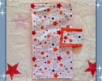 Nappy Wallets - Orange Stars