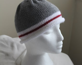 Sock monkey roll brim hat