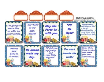 Famous Movie Quote's Planner Stickers