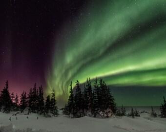 Aurora Borealis Photo Greeting Card