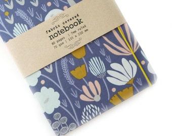 Lavender Botanical Upcycled Fabric Notebook