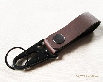 Leather Key Fob, Belt Leather Keychain, Belt Clip Key Chain, Gift under 15 dollars