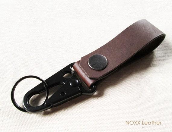 leather key fob belt leather keychain belt clip key chain