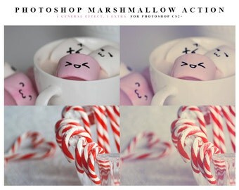 INSTANT DOWNLOAD Marshmallow Photoshop Action