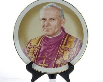 Pope John Paul II - Commemorative Plate - Souvenier Plate - Made in Japan