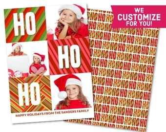 Custom Christmas Greeting Card - Printable Happy Holiday Card - Customized Holiday Card - Chalkboard Merry X-Mas - Happy Holidays - S1115