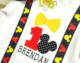 Mickey Birthday | Mickey Mouse Onesie | Birthday Onsie | Birthday Shirt | Mickey Mouse Birthday | Disney Birthday | 1st Birthday | Mickey