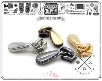 10SETS High Quality Small Puller Tap ZIPPER Come with Slider Set