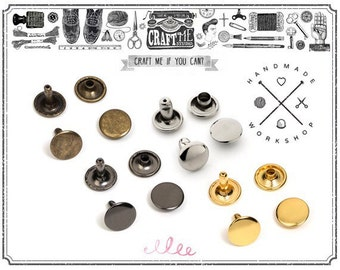100 PCS 4MM 5MM 6MM Double Cap Rivets Round Rivet Fasteners for Leather Craft Decorations - High Quality VT