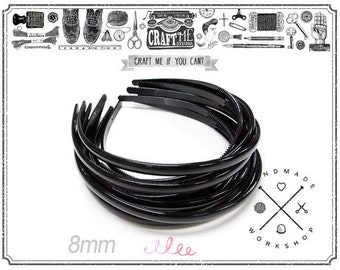 12PCS 5MM BACK Plastic Headbands Wholesale Hair Accessories.