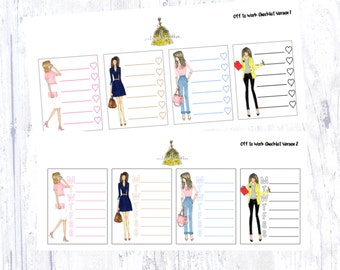 Off to Work Checklist Sticker Set