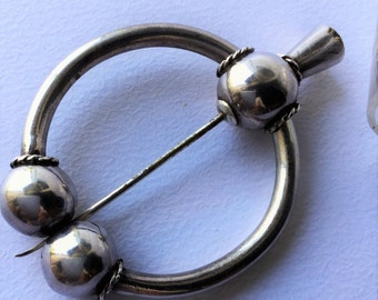 Antique sterling silver celtic brooche, antique jewels, brooche, scottish kilt jewels