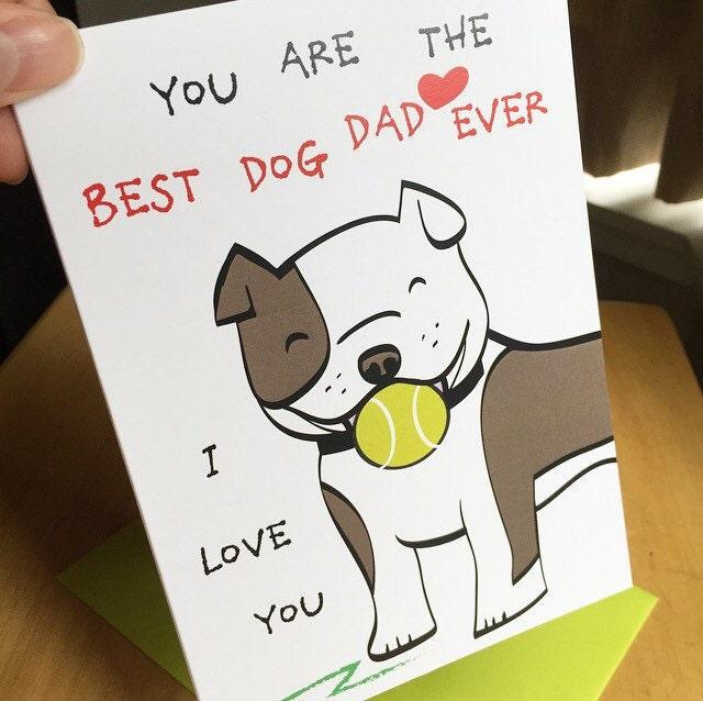 Cute Dad Dog Card Birthday Card Anniversary Card For Husband – Birthday Greetings for Husband and Father