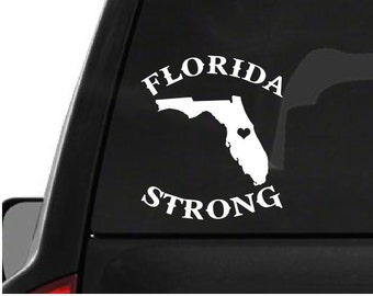 Florida Strong (W23) Vinyl Decal Sticker Car/Truck Laptop/Netbook Window